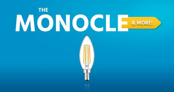 The Monocle. & MoreOne Day. One Deal.LED Candelabra Bulb E12 Dimmable Chandelier 4W Equivalent 40W Candle Bulb Clear Warm White 2700K 330LM 6 pack$14.99 + Free Standard US ShippingEnds 07/07/20 While
