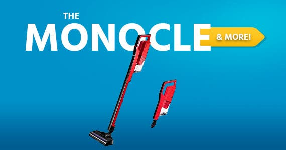 The Monocle. & More One Day. One Deal. Miss Lacy Upright Cordless Vacuum Cleaner 6.5Kpa Strong Suction, Lightweight Handheld Vacuum (Red) $34.99 + Free Standard US Shipping Ends 07/13/20 While Supplie