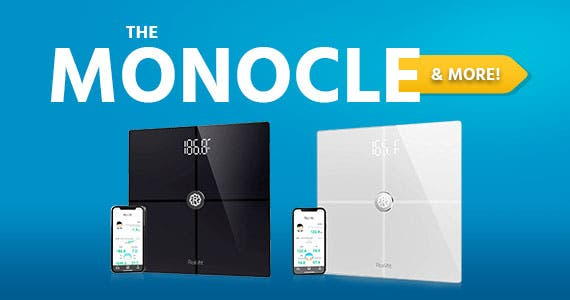 The Monocle. & More One Weekend. One Deal. Rollifit Premium Smart Scale - Body Fat Scale with Fitness APP & Body Composition Monitor Works w/ Android/iPhone 8/iPhone X – Black or White $34.99 + Free S