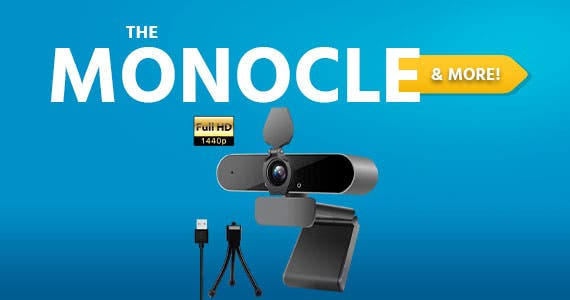The Monocle & More. One Weekend. One Deal.2K 1440P Auto Focus Webcam with Mic | $37.99 + Free Standard US Shipping