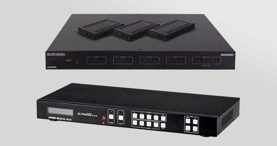 4K Matrix Solutions | Connect HDMI sources and independently distribute any source to any of HDMI displays!