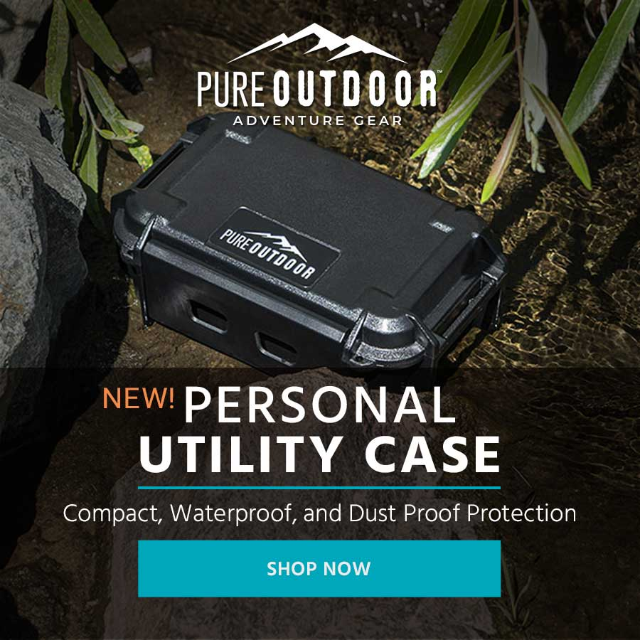NEW (tag) Pure Outdoor (tag) Personal Utility Case Compact, Waterproof, and Dust Proof Protection Shop Now >>