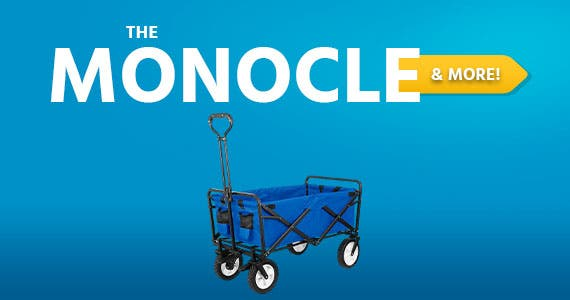 The Monocle. & More One Day. One Deal. Collapsible Folding Outdoor Utility Wagon pull cart | $69.99 + Free Standard US Shipping
