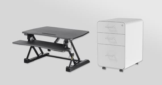 WFH Upgrades | Up to 15% Off Sit-Stand Desks, File Cabinets, and More