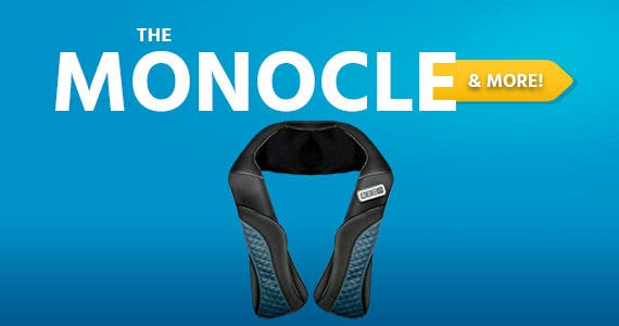 The Monocle. & More One Day. One Deal. MaxKare Rechargeable Kneading Shoulder Massager | $39.99 + Free Standard US Shipping