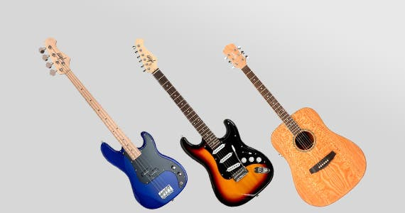 20% OFF Guitars - Electric & Acoustic From $79.99
