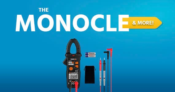 The Monocle. & More One Day. One Deal. Multimeters, Tacklife CM03 Clamp Meter Auto-Ranging 6000 Counts NCV Electrical Tester AC Current, AC/DC Voltage, Ohm Meter Digital Multimeter $17.99 + Free Shipp