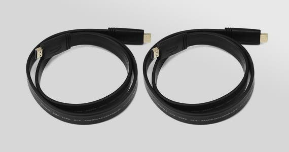 2 for $4 4K HDMI Cables, Use promo code: 4KFLAT. 4K High Speed, 3ft, CL2 In Wall Rated, 10.2Gbps