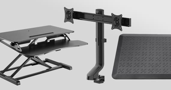 """Save up to 20% Sit-Stand Desk Converters & Office Essentials   Shop Now"""