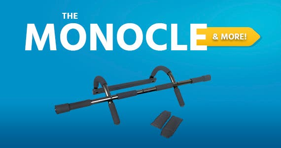The Monocle. & More One Weekend. One Deal. LiveUp Sports Door Chin-up Bar/Pull-up Bar With Arm Strap- Gray + Black $17.99 + Free Standard US Shipping Ends 04/11/21 While Supplies Last
