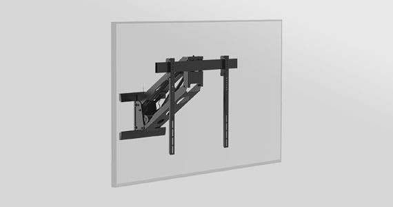 "Back in Stock Motorized, Full Motion  TV Wall Mount Above fireplace full motion wall mount for 50"" to 100"" displays weighing up to 110 pounds Shop Now"