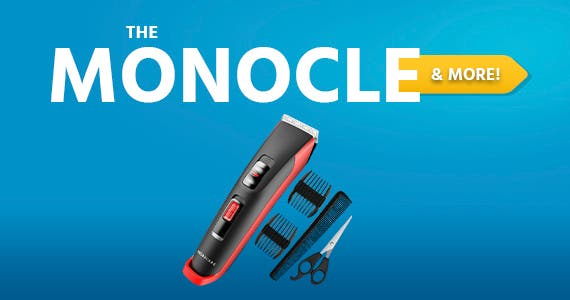 The Monocle. & More One Day. One Deal. BROADCARE Hair Clippers for Men, Super Quiet And Lightweight $14.99 + Free Standard US Shipping Ends 04/15/21 While Supplies Last