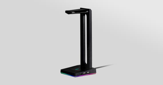 NEW (tag) Dark Matter (Logo) Ascend USB Headset Stand 2-port USB Hub | 3.5mm Audio Jack | RGB Lighting Shop Now