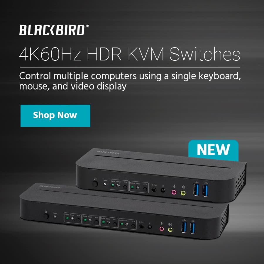 NEW (tag) 4K60Hz HDR KVM Switches Control multiple computers using a single keyboard, mouse, and video display Shop Now