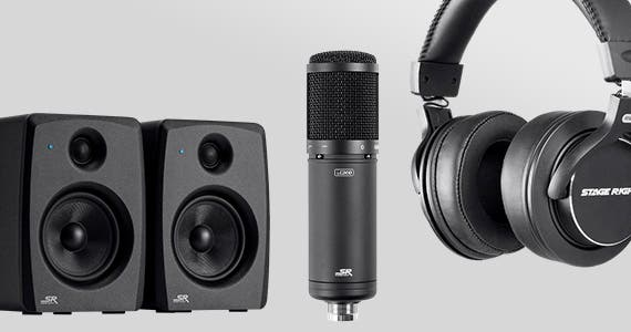 Find Your Inner Podcaster 20% OFF Stage Right Podcast / Studio Accessories Shop Now