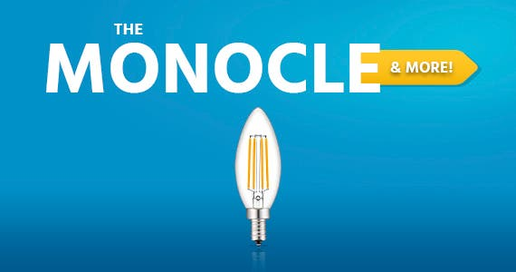 The Monocle. & More One Weekend. One Deal. LED Candelabra Bulb E12 Dimmable Chandelier 4W Equivalent 40W Candle Bulb Clear Warm White 2700K 330LM 6 pack $14.99 + Free Standard US Shipping Ends 5/9/21