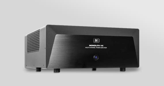 Back in Stock  Monolith (logo) Multi-Channel Home Theater Power Amplifiers State-of-the-art, high-performance, audiophile-grade with XLR inputs 11 Channel | 9 Channel | 7x200 | 5x200 | 3x200 | 2x200