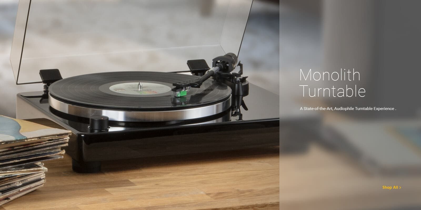 Monolith Turntable, A state-of-the-art, audiophile turntable experience, Shop