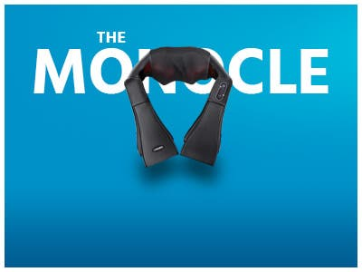 The monocle, One Day. One Deal, Naipo Shiatsu Back & Neck Massager (Refurbished) | $19.99 + Free Standard US Shipping, shop now