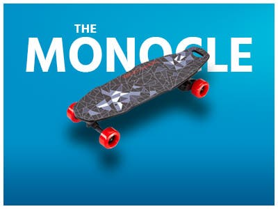 The monocle, One Day. One Deal, BENCHWHEEL Penny Board 1000W Electric Skateboard, 27"