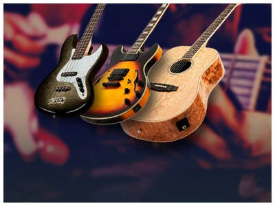 New! Electric, Bass, & Acoustic Guitars, Beautifully Crafted | Affordable | Gig Bag Included, shop now
