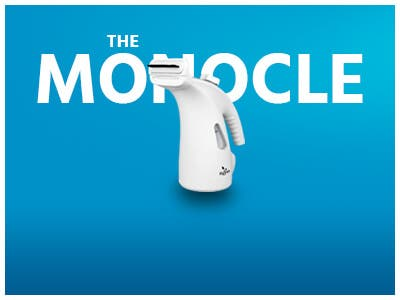 The monocle, One Day. One Deal,Portable Handheld Fabric Steamer with Retractable Cord | $19.99 + Free Standard US Shipping
