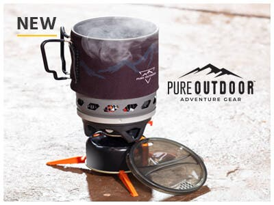 Outdoor Cooking System, Enjoy fast, efficient cooking and heating while on any adventure! Learn More