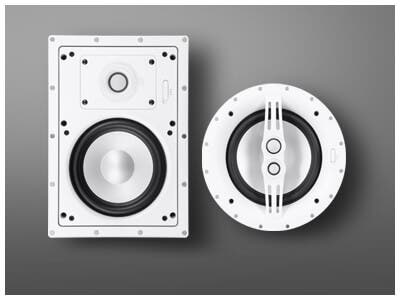 In-Wall/Ceiling Speakers, Sycamore Architectural Speakers, designed to look as good as they sound! Learn More