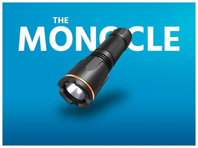 The Monocle. One Day. One Deal. One Incredibly Low Price.Tacklife 900 Lumens Tactical LED Flashlight | $14.99 + Free Standard US Shipping! , Ends 05/22/19 While Supplies Last