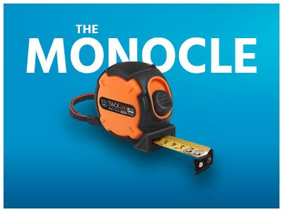 The Monocle. One Weekend. One Deal. One Incredibly Measuring Tape Tacklife TM-B02 Tape measure 16 foot (5M) | $4.99 + Free Shipping, Ends 05/26/19 While Supplies Last