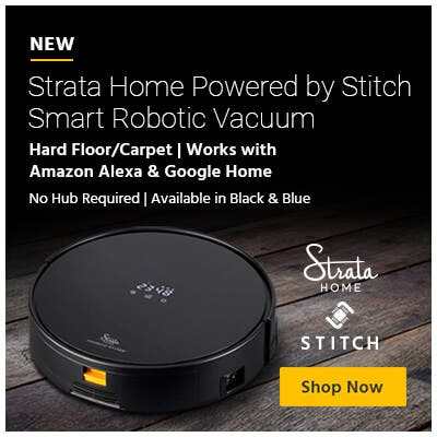 New, strata home powered by stitch smart robotic vacuum, shop now