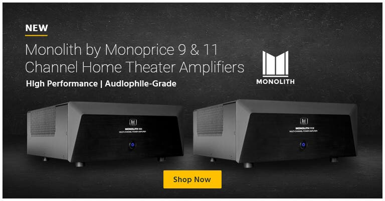 NEW Monolith by Monoprice 9 & 11 Channel Home Theater Amplifiers High Performance | Audiophile-