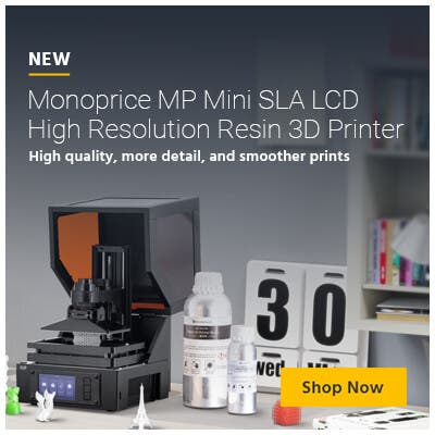 New, Monoprice MP Mini SLA LCD High Resolution Resin 3D Printer High quality, more detail, and smoother prints.  Shop Now