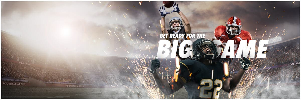 Get Ready For The Big Game, up to 50% off, limitied time offer, shop now