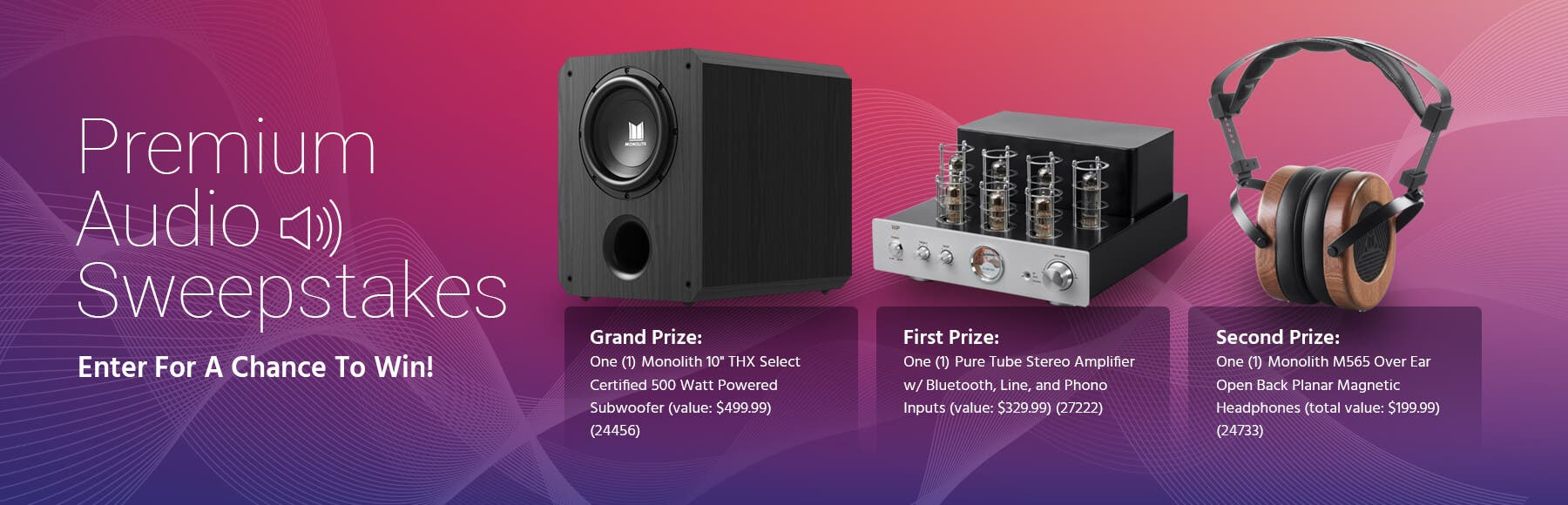 Audio Sweepstakes
