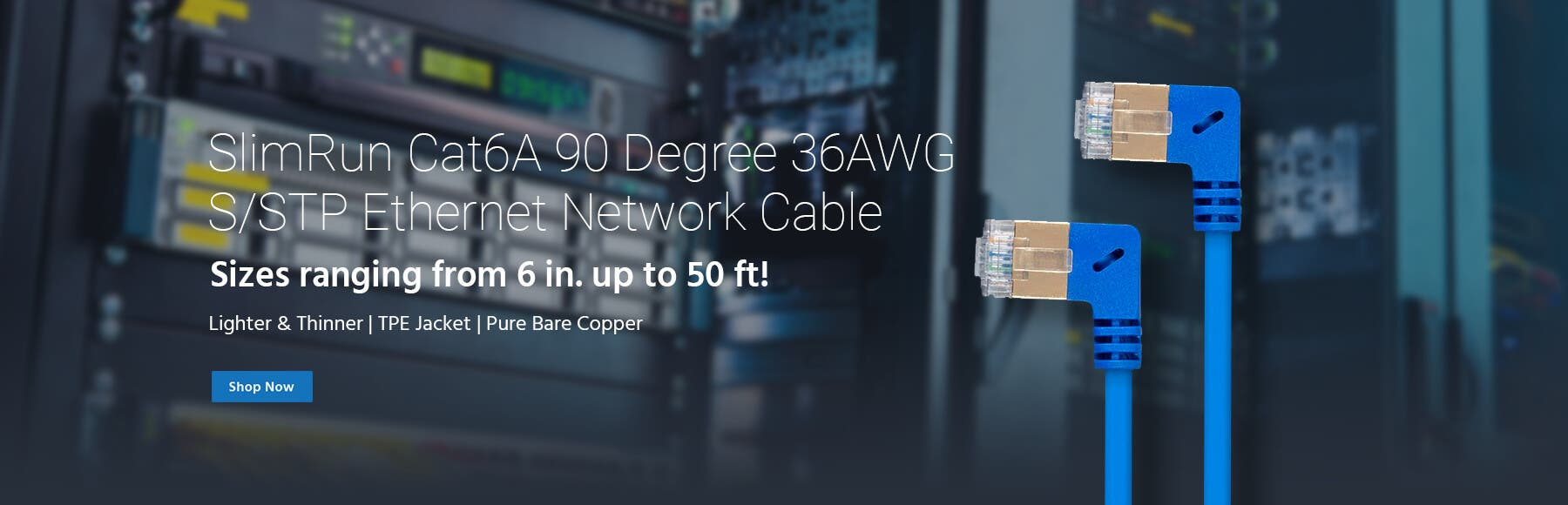 Cat6a 90 Degree Cable
