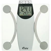 Weight Watchers Glass Body Analysis Scale - 400 lb / 180 kg Maximum Weight Capacity - Glass
