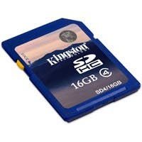 Product image for Kingston 16GB Secure Digital High Capacity (SDHC) Card - Class 4 - ...