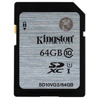 Kingston 64 GB SDXC - Class 10/UHS-I (U1) - 45 MB/s Read - 10 MB/s Write