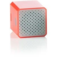 WowWee Groove Cube Shutter - Salmon - 1 Inch Cube Speaker - Building Bluetooth and Remote Shutter Connect to Smart Device - Hand Free Phone Calls - Connect up to 32 Feet