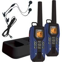 Uniden GMR5095-2CKHS Submersible Two Way Radio with Charger and Headset - 22 x GMRS/FRS - 264000 ft