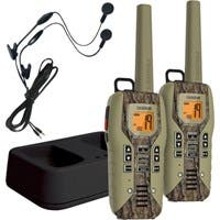 Uniden GMR5088-2CKHS Camo Submersible Two Way Radio with Charger and Headset - 22 x GMRS/FRS - 264000 ft