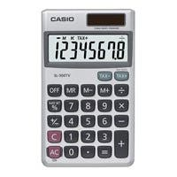 "Casio SL300SV Pocket Calculator - 8 Digits - Battery/Solar Powered - 0.3"" x 2.8"" x 4.6"" - Silver - 1 Each"