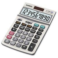 "Casio JF100MS General Purpose Calculator - Extra Large Display, Auto Power Off, Plastic Key, Kickstand - 10 Digits - LCD - Battery/Solar Powered - 1.3"" x 4.2"" x 6.8"" - 1 Each"
