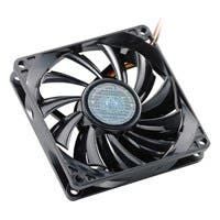 Cooler Master Sleeve Bearing 80mm Slim Silent Fan for Computer Cases and CPU Coolers - 80x80x15 mm, ~ 2000 RPM speed, 24.2 CFM air flow, 20 dBA noise level, 35000 hr life, Sleeve Bearing, ~ 1.4 mm H2O