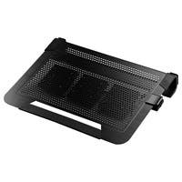 "Cooler Master NotePal U3 PLUS - Laptop Cooling Pad with 3 Configurable High Performance Fans - 3 Fan(s) - 1800 rpm - Aluminum, Plastic, Rubber - Cable Manager - 3"" x 17.1"" x 13.1"" - Black"