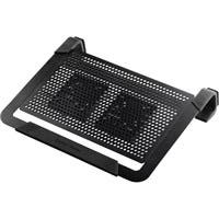 "Cooler Master NotePal U2 Plus - 2 Fan(s) - 2000 rpm - Aluminum, Metal, Plastic, Rubber - 2.4"" x 13.6"" x 11.1"" - Black"