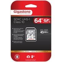 Gigastone 64 GB SDXC - Class 10/UHS-I - 45 MB/s Read - 1 Card