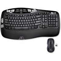 Logitech Wireless Wave Combo MK550 - USB Wireless RF Keyboard - 117 Key - USB Wireless RF Mouse - Laser - Scroll Wheel - Email, Internet Key Hot Key(s) - AA (PC)