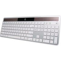 Logitech Wireless Solar Keyboard K750 for Macs - Wireless Connectivity - RF - USB Interface - Compatible with Computer (Mac) - Multimedia, Eject, Brightness Hot Key(s) - Silver
